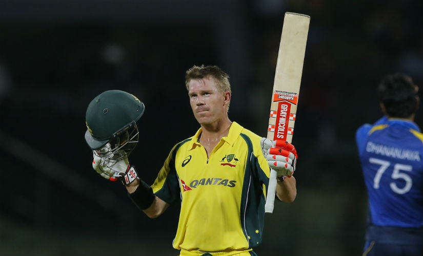 David Warner ended his woeful form with the bat with a match-winning ton in the final one-dayer. AP
