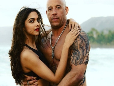 Deepika Padukone poses with her 'xXx: The Return of Xander Cage' co-star Vin Diesel. Image from Instagram