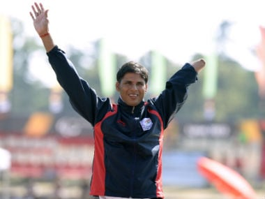 Devendra Jhajharia won gold in the 2004 Athens Paralympics javelin event. AFP