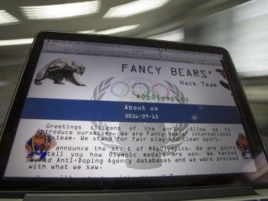 A screenshot of the Fancy Bears website. AP
