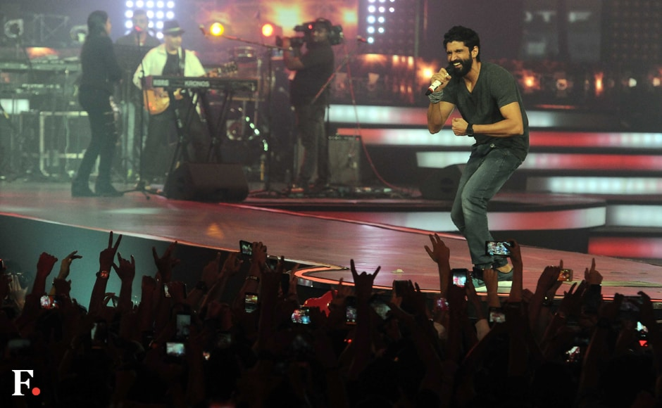 Farhan Akhtar performing at the concert. Sachin Gokhale/Firstpost