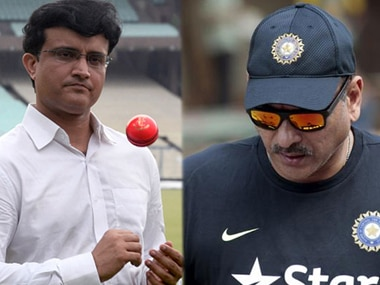 Sourav Ganguly and Ravi Shastri (right). Image courtesy: News18