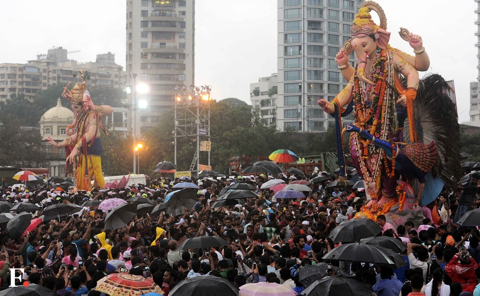 In Mumbai, BMC had organised visarjan facilities at 69 natural and 31 artificial ponds. Sachin Gokhale/Firstpost