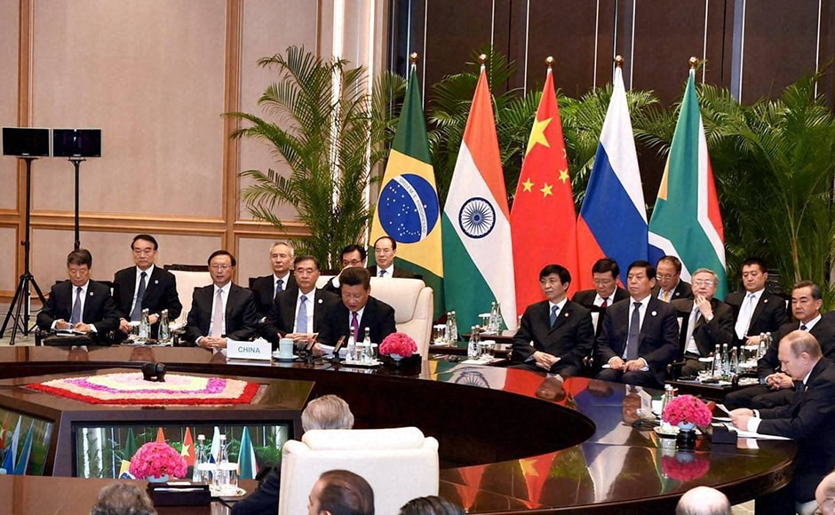 Brics brings together five major emerging economies, comprising 43 percent of the world population, having 37 percent of the world GDP and 17 percent share in the world trade. PTI