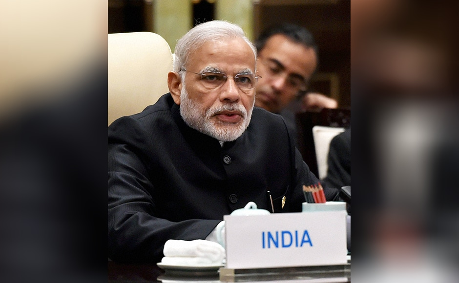 "Leading from the chair, Modi addressed the Brics Leaders Meeting here, before the 8th annual Summit in Goa from 15-16 October. ""We, as Brics, are an influential voice in international discourse. It is, therefore, our shared responsibility to shape the international agenda,"" he said in this picturesque eastern Chinese city. PTI"