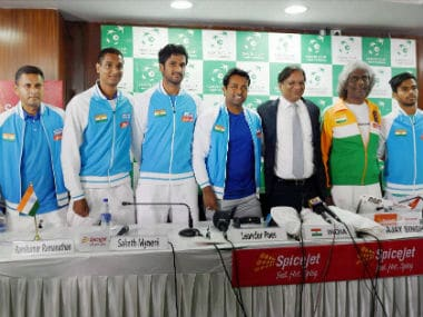 File photo of India's Davis Cup team. PTI