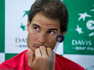 Spanish tennis player, Rafael Nadal. AP