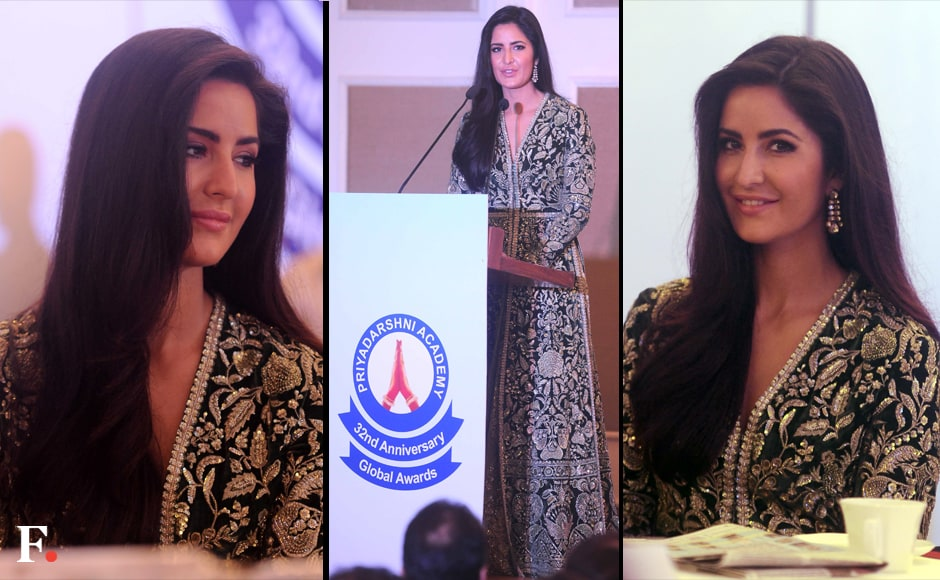 Katrina Kaif looked stunning in a Sabyasachi designed green ensemble. Sachin Gokhale/Firstpost