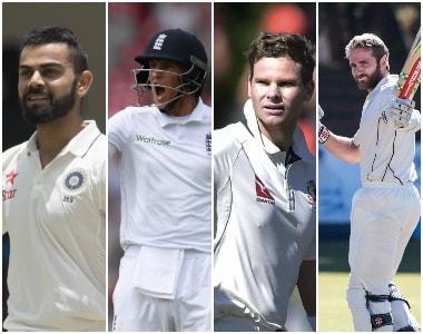 (L to R): Virat Kohli, Joe Root, Steve Smith and Kane Williamson. AFP