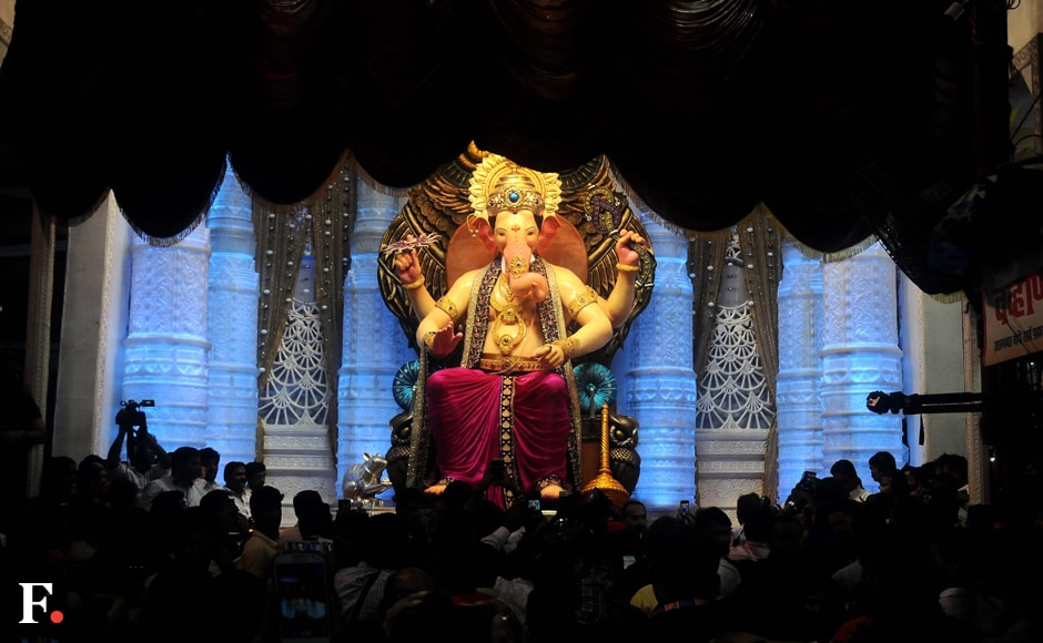 Lalbaugcha Raja is Mumbais's most famous Ganpati darshan during the auspicious Ganesh Chaturthi festival. Photo: Firstpost/Sachin Gokhale