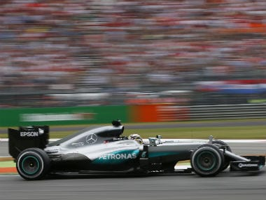Mercedes' Lewis Hamilton in action during the Ital
