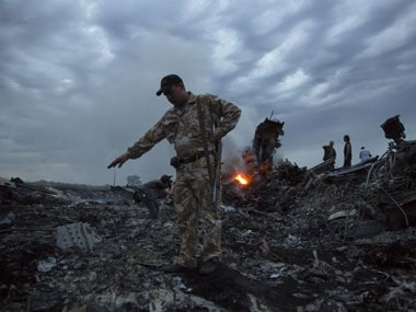 The site of the crash of MH17. File photo. AP