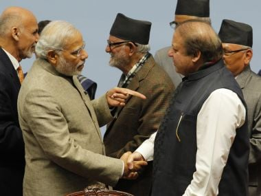 Prime MInister Narendra Modi with his Pakistani counterpart Nawaz Sharif. AFP