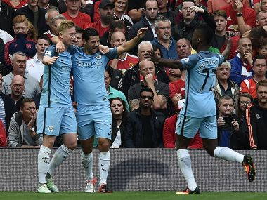 Pep Guardiola's Manchester City produced a strong first half dsiplay to leave Old Trafford with all three points. AFP