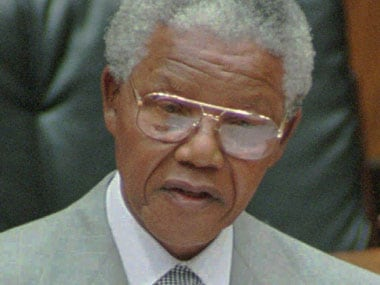 A file photo of Nelson Mandela. AP