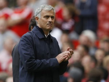 Manchester United manager Jose Mourinho at the end of the match. Reuters