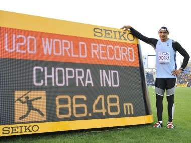 Neeraj Chopra, first Indian world record holder in track and field. Getty Images