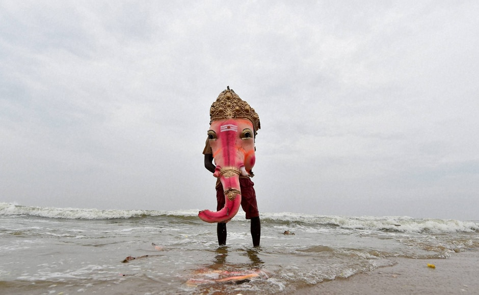 The ritual of idol immersion also raises some environmental concerns as increasingly, the traditional clay idols have been replaced by Plaster of Paris statues. Environmentalists have been propagating the use of eco-friendly traditional clay idols. They also insist that various Puja articles and clothes etc should be discarded separately. PTI