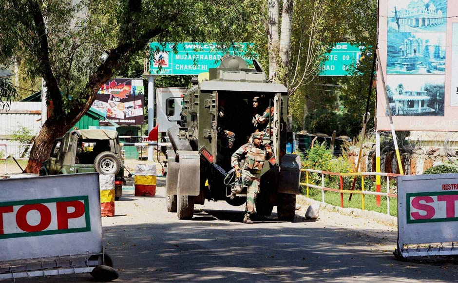 Militants stormed a battalion headquarters of the Army, 102 km from Srinagar, in the wee hours on Sunday, with explosions and heavy gunfire heard at the spot. PTI
