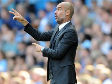 Manchester City manager Pep Guardiola. AP