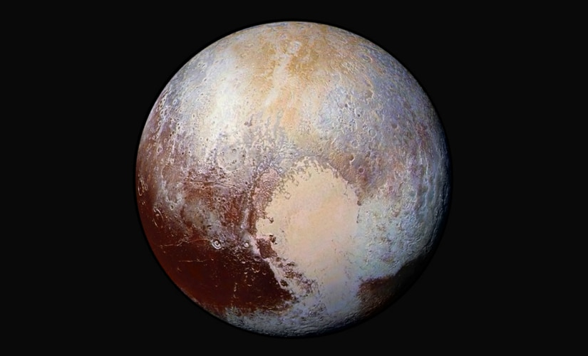 A heart-shaped region is called Sputnik Planum. Image taken from NASA's New Horizons spacecraft. Reuters