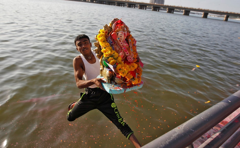 In Ahmedabad too, the festival was observed with zeal as devotees immersed Ganpati idols in the Sabarmati river. The festival, initiated in an open public format in 1892 by Mumbai's Bhausaheb Laxman Javale alias Bhau Rangari, this year entered the 125th year. Reuters