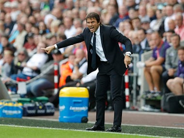 Chelsea manager Antonio Conte at the touchline against Swansea in the Premier League. Reuters