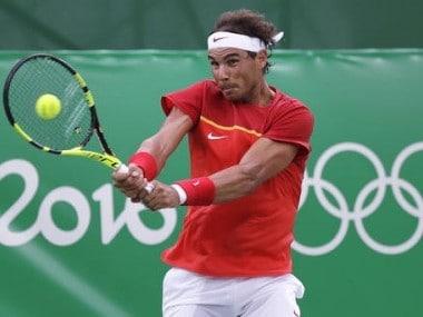 Rafael Nadal at the 2016 Summer Olympics in Rio de Janeiro. AP