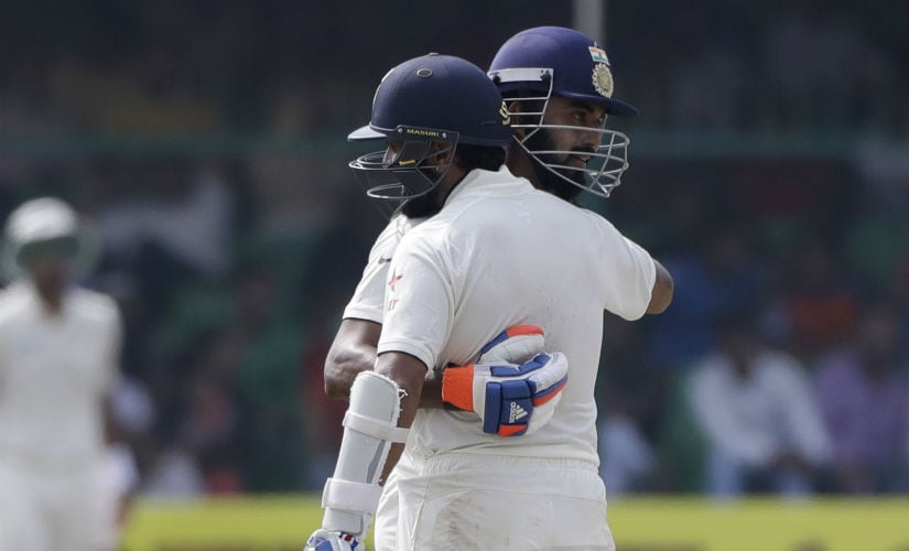 Openers KL Rahul (right) and Murali Vijay. AP