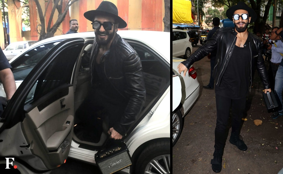 Ranveer Singh was dressed to the nines to inaugrate a salon in the city. Singh, who is known for his eccentric choice of attire showed up at the event dressed completely in black. Sachin Gokhale/Firstpost