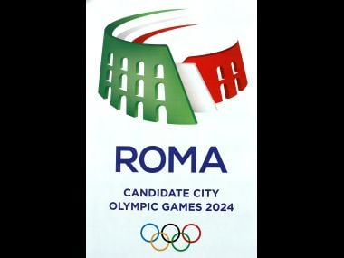 File photo of the logo of Rome candidate to host the 2024 Summer Games. Reuters