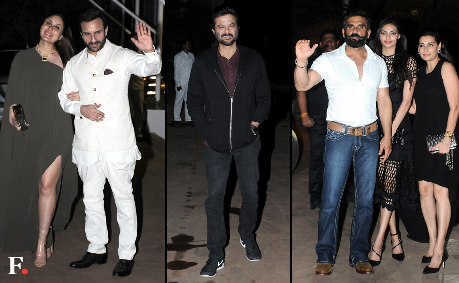 The Kapoor-Khans again, Anil Kapoor and Sunil Shetty with family. Sachin Gokhale/Firstpost