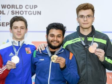 Gold medalist Subhankar Pramanick of India. ISSF Website