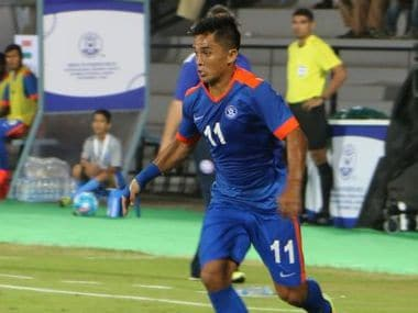 Sunil Chhetri starred in India's 4-1 win over Puerto Rico scoring one and assisting two. ISL Twitter