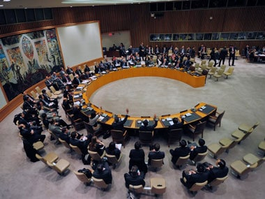 United Nations Security Council. AFP