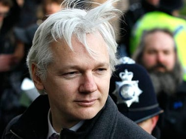 A file photo of Assange. AP