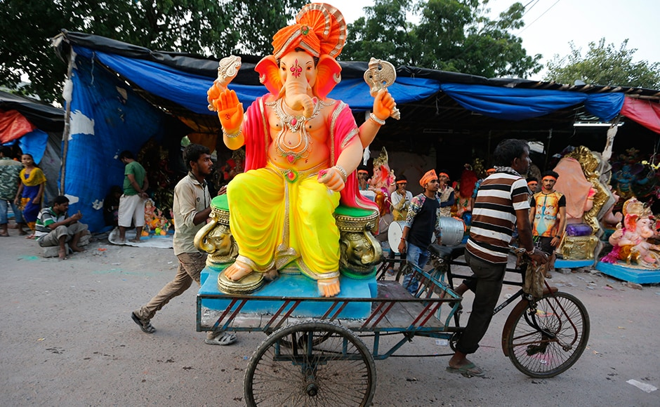 PM Modi has suggested that instead of POP idols, which after immersion cause damage to the aquatic life and environment, people should use eco-friendly idols made of clay. AP