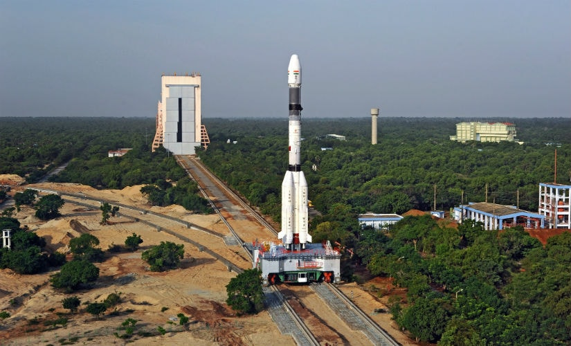 Panoramic View of GSLV-F05 being moved from VAB towards Launch Pad. Isro