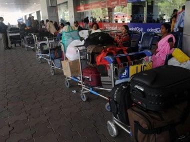 A file image of Kolkata airport. PTI