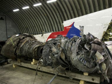 Wreckage of MH17. Reuters