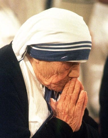 A file photo of Mother Teresa during a mass at the Basilica of the Assumption. Reuters