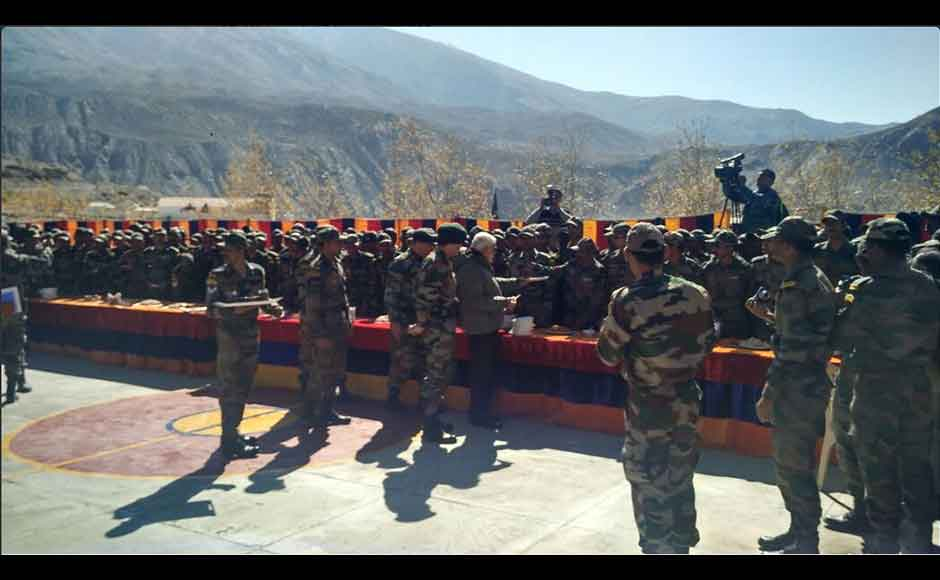 PM Modi credited the soldiers for maintenance of peace and security in the country and called upon everyone to remember their gallantry while celebrating Diwali. (Photo: Twitter @narendramodi)
