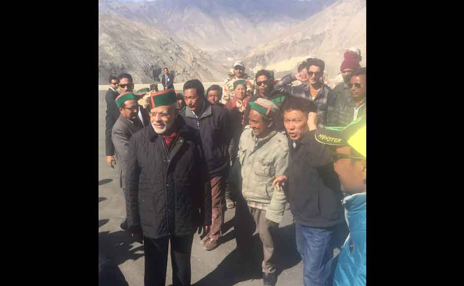 He also posed with everyone in a group photograph, with the mountains providing a majestic background. The PM had celebrated his first Diwali after coming to power in 2014 with soldiers posted in Siachen. In 2015, he was at the India-Pakistan border in Punjab. (Photo: Twitter @narendramodi)