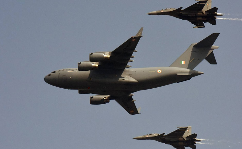The air power display included C-17 Globemaster, Su-30 MKIs, Jaguar, Mig-21 Bisons, Mig-29 and Mirage 2000. Naresh Sharma