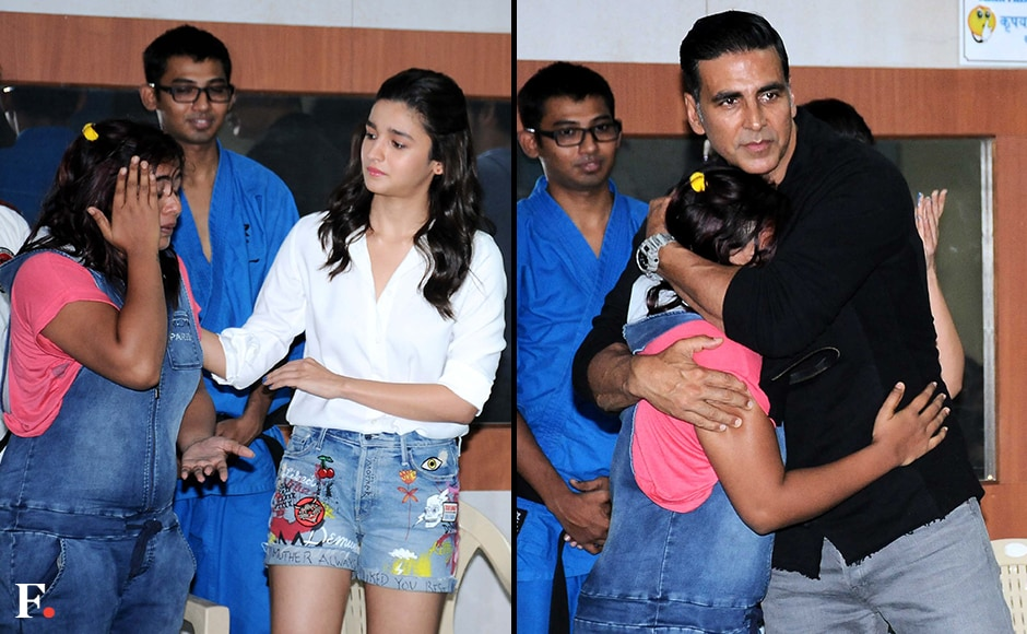 Alia and Akshay listening to personal stories. Sachin Gokhale/Firstpost