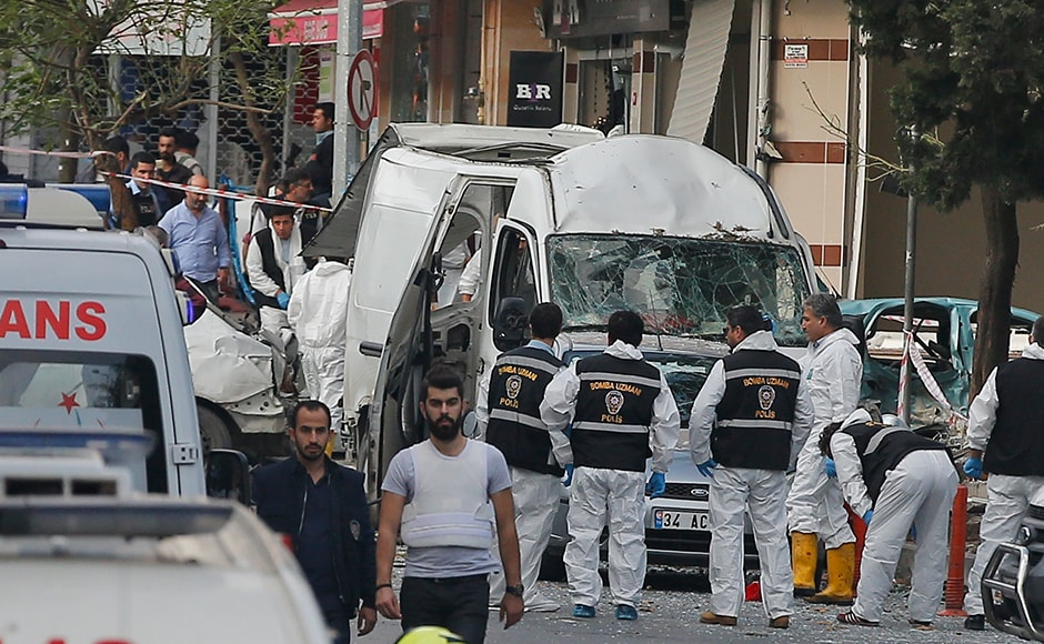 The explosion rocked the district of Yenibosna on the European side of Istanbul, close to the city's main international airport. AP