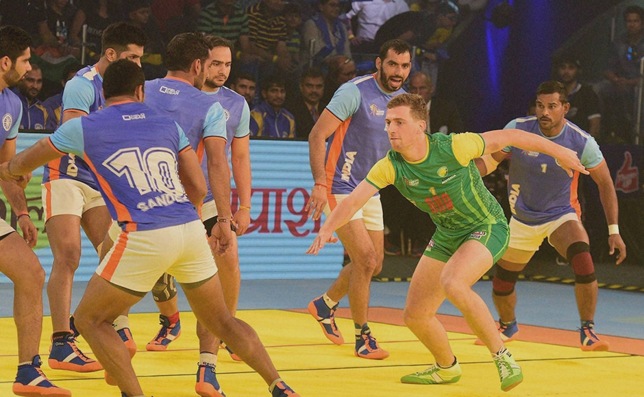 It was an superb all-round effort from India which saw them defeat Australia 54-20 and the Anup Kumar-led team registered their first win in the Kabaddi World Cup. PTI