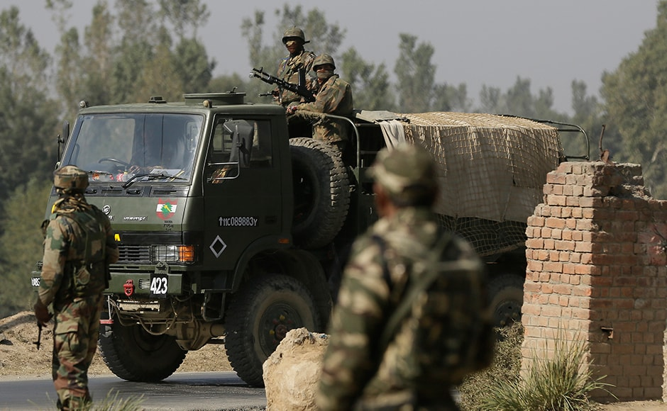One soldier and one police officer were injured were injured in the exchange in between terrorists and security forces. Photo: AP