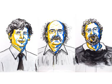 David Thouless, Duncan Haldane and Michael Kosterlitz have been awarded the 2016 Nobel prize in physics. Photo credit: Nobel