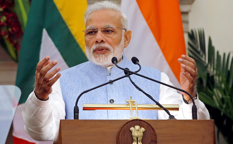 Modi announced India's cooperation programme and said that the two countries have agreed on security coordination in border areas. Photo: Reuters